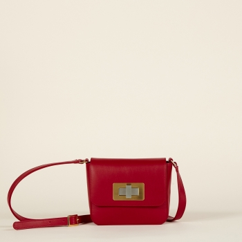 Gertrude mini nappa dark red
