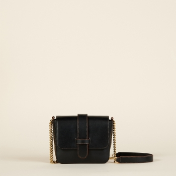Amanda mini chain vegetal noir