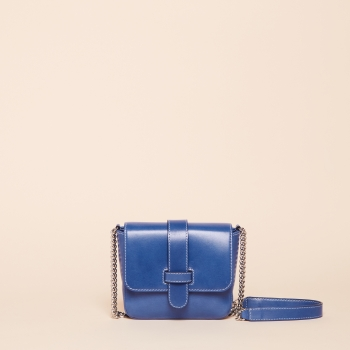 Amanda mini chain vegetal cobalt
