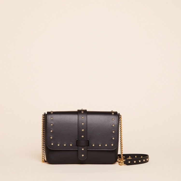 Amanda medium chain stud vegetal black