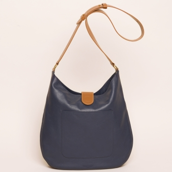 Gabrielle calf navy tan